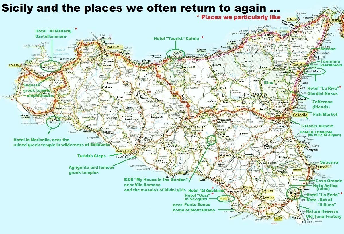 Click here for map of Sicily and places we often return to